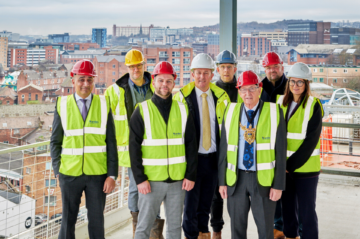 Student development Nurtur House tops out in Sheffield