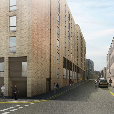 View of proposed building from Shepherd St and Doncaster St junction