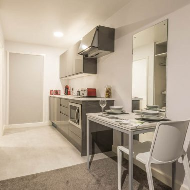 Canterbury Hall apartment kitchen example