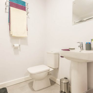 Canterbury Hall apartment bathroom example