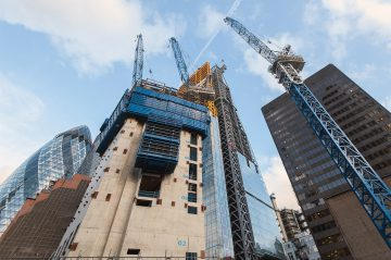 Construction workloads hold steady in London, despite bad weather and uncertainty